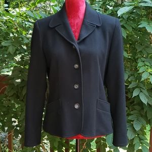 Laura Scott Wool Blend Black Jacket Size 8